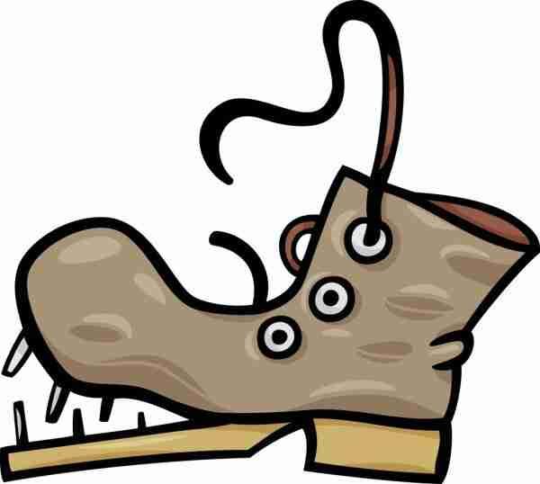 o scarparo tene e scarpe rotte