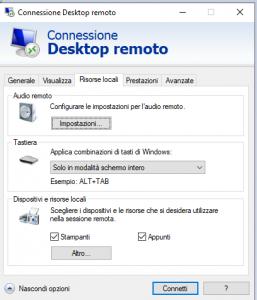copia incolla non funziona desktop remoto